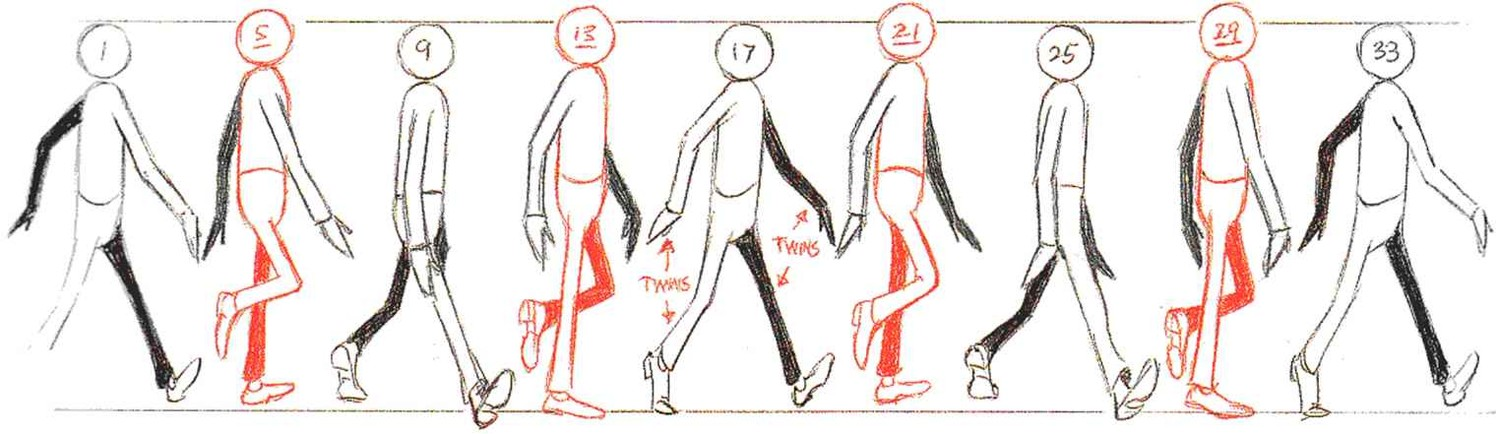 Как сделать анимацию ходьбы 134